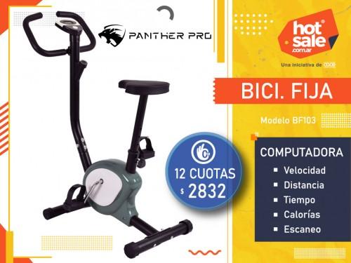Bici Fija BF103 Comp.: Vel. / Dist./ Hora / Cal./ Escaneo, PantherPro