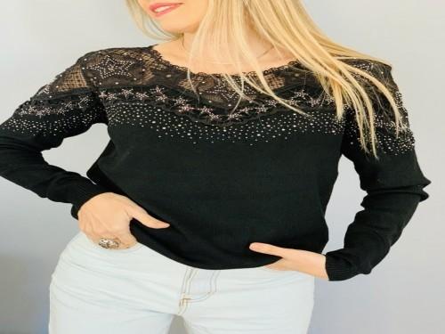 Sweter de mujer con detalle de tul - TWINLP