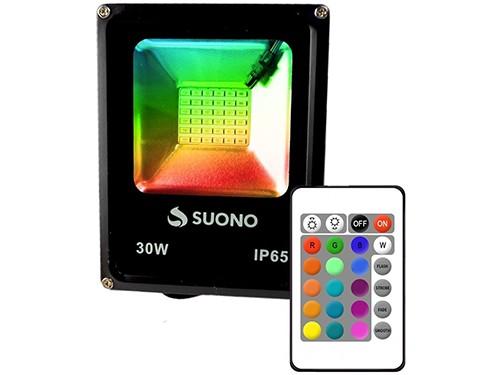 Reflector Led RGB 30w Exterior 16 Colores Control Remoto IP65