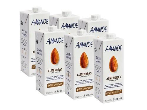 Leche de Almendras Amande Vegana Pack x 6u