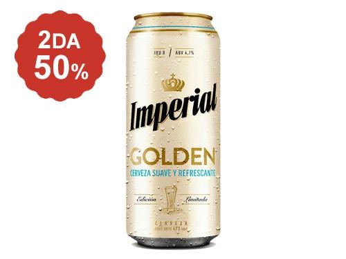 2do al 50% en Cerveza Imperial Golden lata 473 Ml.