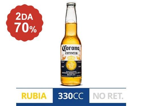 2do al 70% en Cerveza Corona 355 cc.