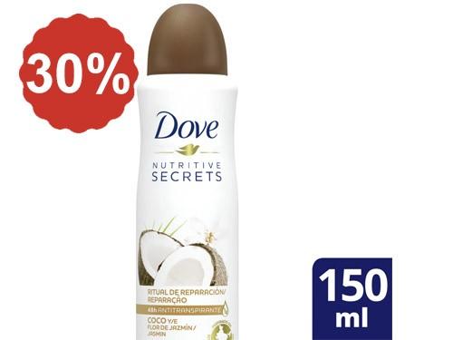 30% en Desodorantes Dove 150 Ml.