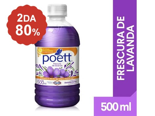 2do al 80% Limpiador de Pisos Poett 500 Ml.
