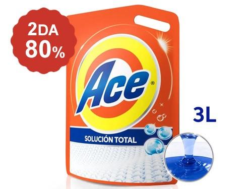 2do al 80% en Jabón Líquido Ace Solución Total pouch 3 Lts.
