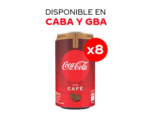 8 Coca-Cola con Café 220 ml