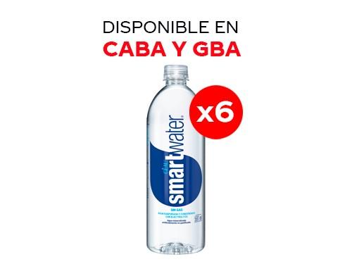 6 Smart Water sin gas 591 ml