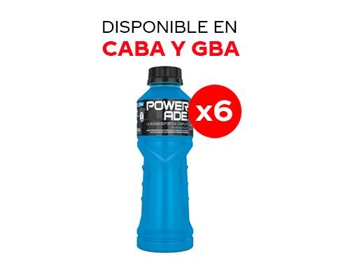 6 Powerade Mountain Blast 500 ml