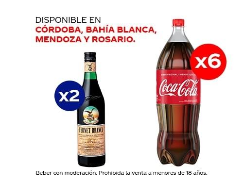 6 Coca-Cola 1.5 lt + 2 Fernet Branca 750 ml