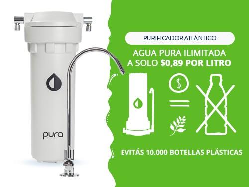 Purificador Agua Elimina Arsénico Plomo Cloro Filtro Bajo Mesada Pura