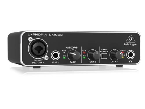 Interfaz de audio USB 2×2 Behringer UMC22