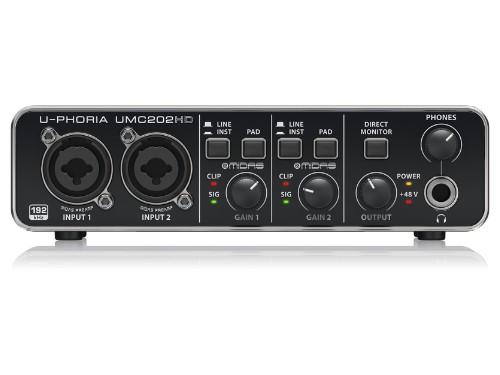 Interfaz de audio USB 2 canales Behringer UMC202 HD