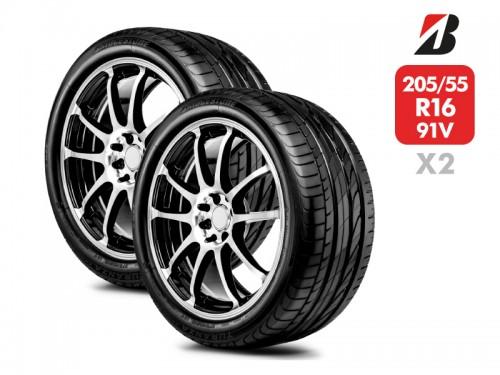 2 Neumáticos Bridgestone Turanza Er300 91V 205/55 R16
