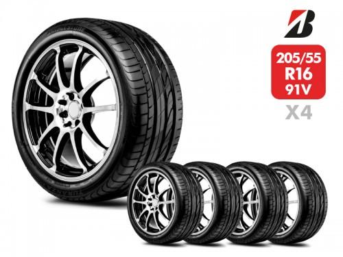 4 Neumáticos Bridgestone Turanza Er300 91V 205/55 R16
