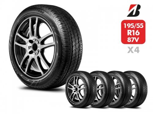 4 Neumáticos Bridgestone Ecopia Ep150 87H 195/55 R16