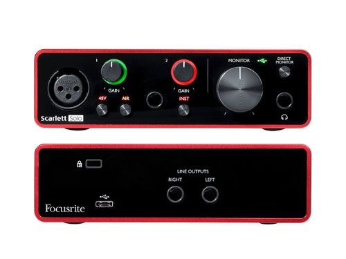 Interfaz de audio USB Focusrite Scarlett Solo
