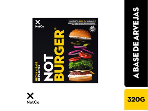 Not Burger Premium x 320 g SIN TACC THE NOT COMPANY