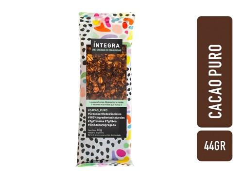 Barra Cacao y chips de chocolate x 42 g SIN AZUCAR INTEGRA