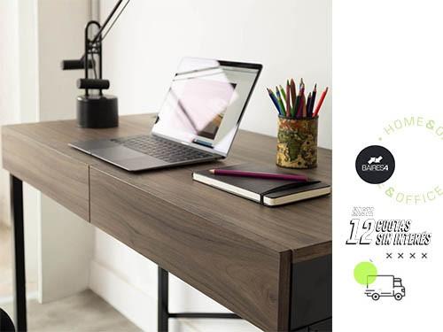 Escritorio HomeOffice Oslo Black 2 Cajones BAIRES4