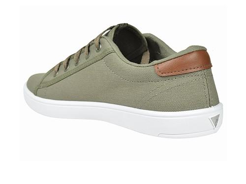 Zapatillas de hombre lona verde Urbana Deli