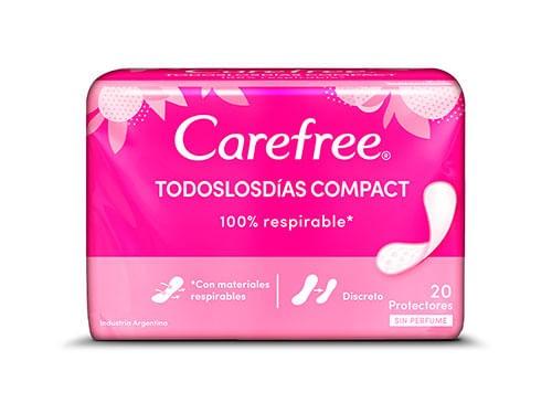 Protector Diario Proteccion Compact Carefree 20 Un