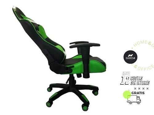 Sillón Gamer Pro Racing Verde BAIRES4
