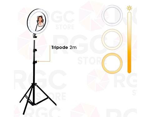 Aro de Luz Led 20CM Con soporte para celular