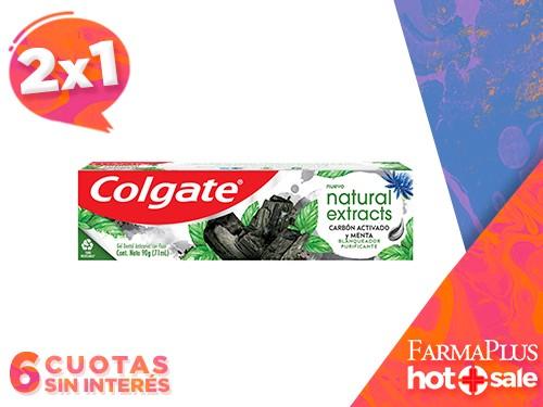 Colgate Pasta Dental Naturals Extracts Carbón Activado 90 grs  2x1