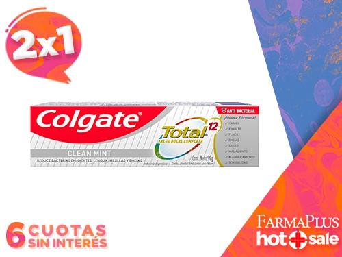 Colgate Pasta Dental Total 12 Limpieza Completa 90 gr  2x1