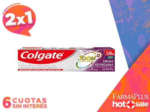 Colgate Pasta Dental Total 12 Encías Reforzadas 90 grs  2x1