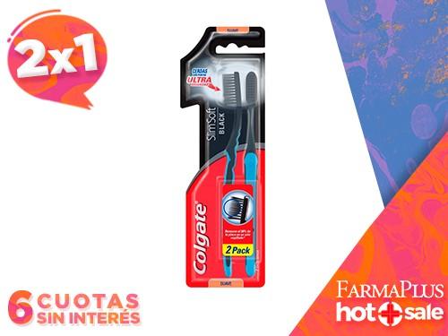 Colgate Cepillo Dental Colgate Slim Soft Black Packx2   2x1