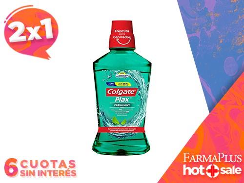 Colgate Enjuague Bucal Fresh Mint Zero Alcohol 500 ml  2x1