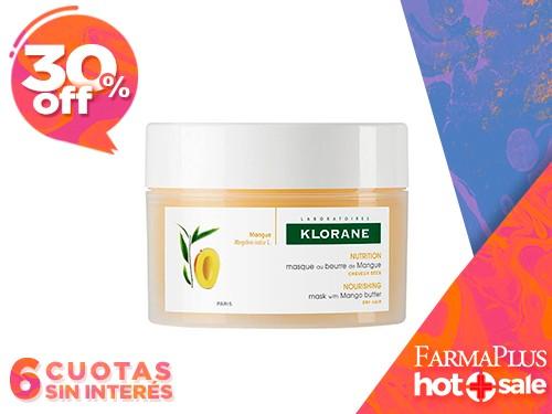 Klorane Mascarilla Capilar Mango Reparadora del Cabello 150 ml