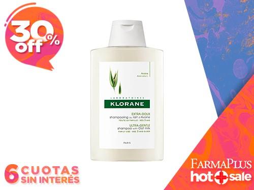 Klorane Shampoo Avena para Todo Tipo de Cabello 400 ml