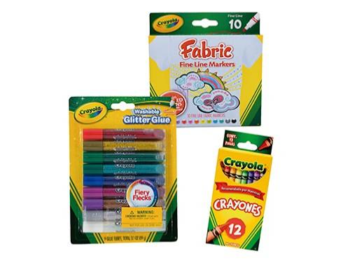 Marcadores Fine + Adhesivos Glitter + Crayones 12u