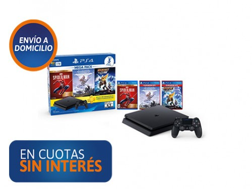 PS4 Sony Mega Pack 15 + DS + 3 Juegos