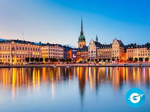 Vuelo a Estocolmo en oferta. Pasaje Aéreo Barato a Suecia.