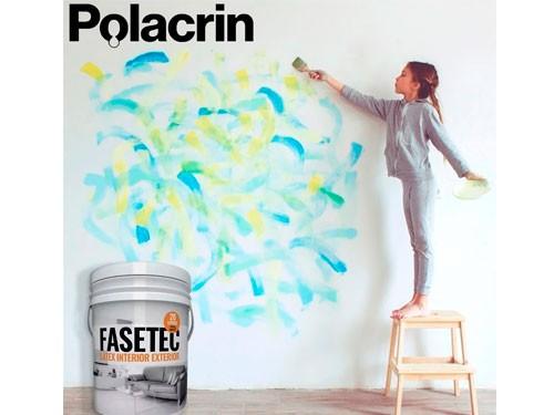 Pintura Latex Interior Exterior Fasetec Polacrin 20lt Blanca