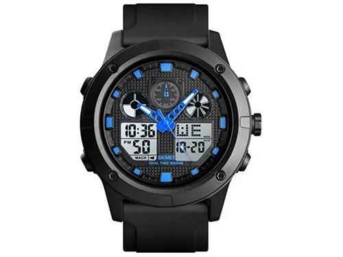 Reloj Skmei Analogico Dig Hombre Cronómetro Alarma Luz 5atm
