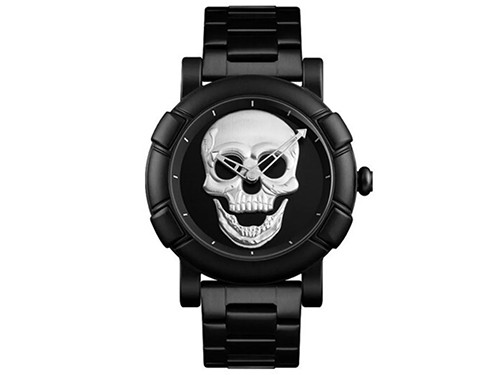 Reloj Skmei Calavera Analogico Skull Acero Inox 9178 Hombre