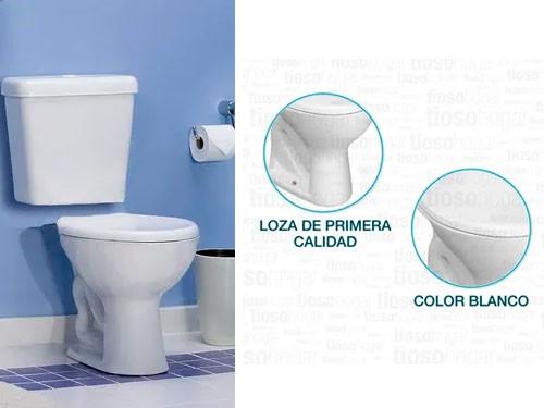 Inodoro Corto Deca Linea Marajo Loza Blanco Sanitarios Promo