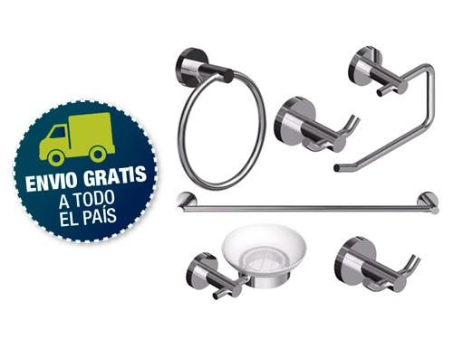 Accesorio Baño Kit Completo Piazza Domani Set 6 Piezas Metal