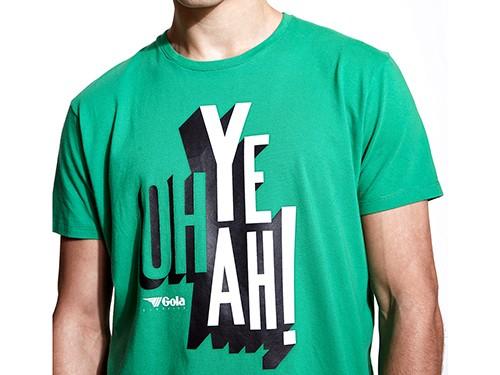 Remera Gola Print Oh Yeah - 100% algodón