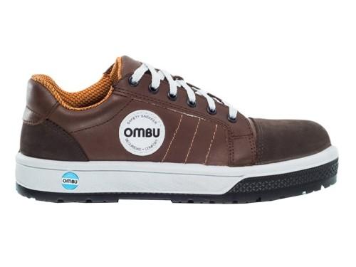 Zapatillas De Trabajo Y Seguridad Sneaker Ombu Marron y Negro