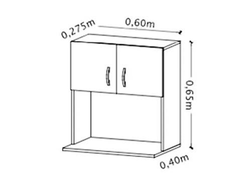 Mueble Organizador Microondas Grill Rack Amube Estante 60cm