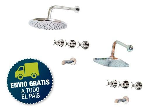 Griferia Ducha Embutir Transferencia Cromada Cromo Ibiza