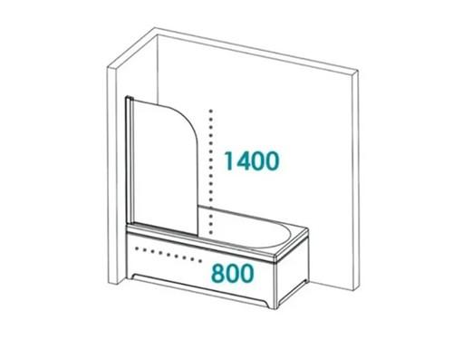 Mampara Baño Puerta Rebatible Vidrio Templado Pringles Bañera Ducha