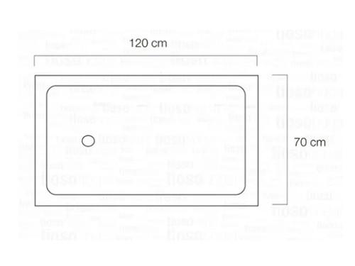 Receptáculo Ducha 120 Cm Acrilico Brillo 1200x700x Envio
