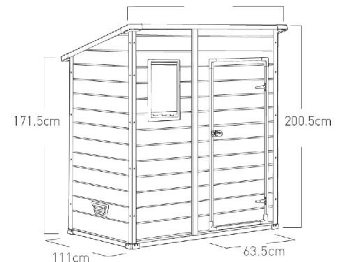 Depósito De Jardin Keter Manor Pent 6x4 - 200x183x111 Cm