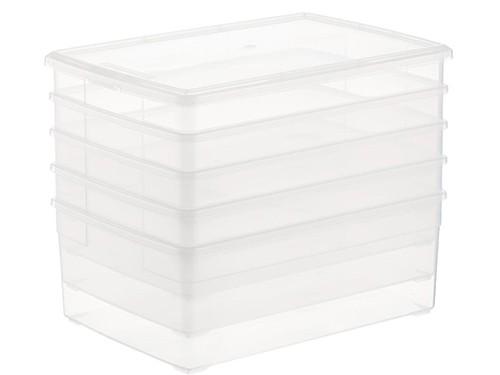 Set X6 Cajas Organizadoras Ropa Cocina Baño 5 Litros Clear